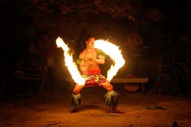 Polnesian Cultural Center Fire Dancers