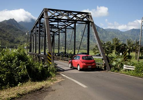 Kauai's Series Of One-land Bridges