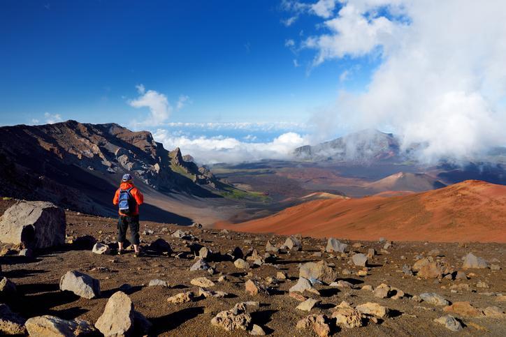 Haleakala volcano hike